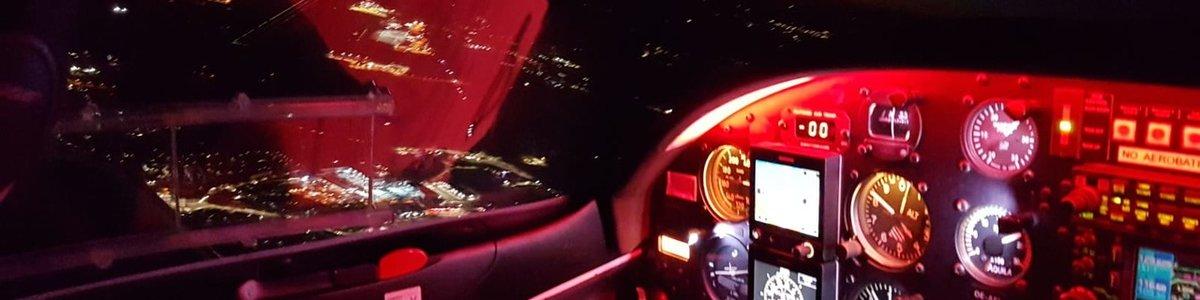 Nacht-Sichtflug bei flylinz